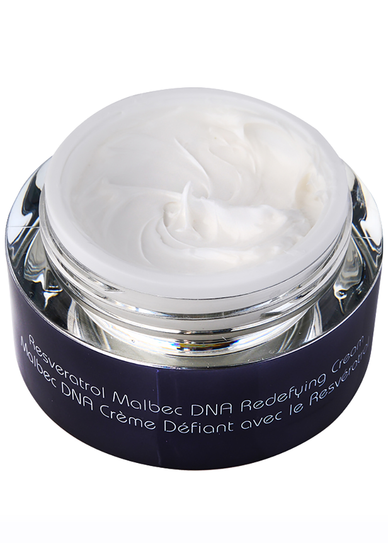 Malbec DNA Redefying Cream with open lid