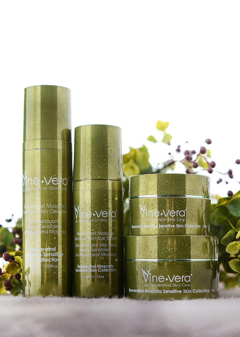 sensitive skin collection with outside background